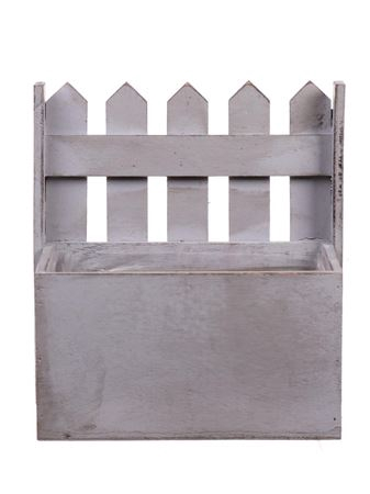 <h4>Planter Fence1 wood 18x11xh20 white</h4>