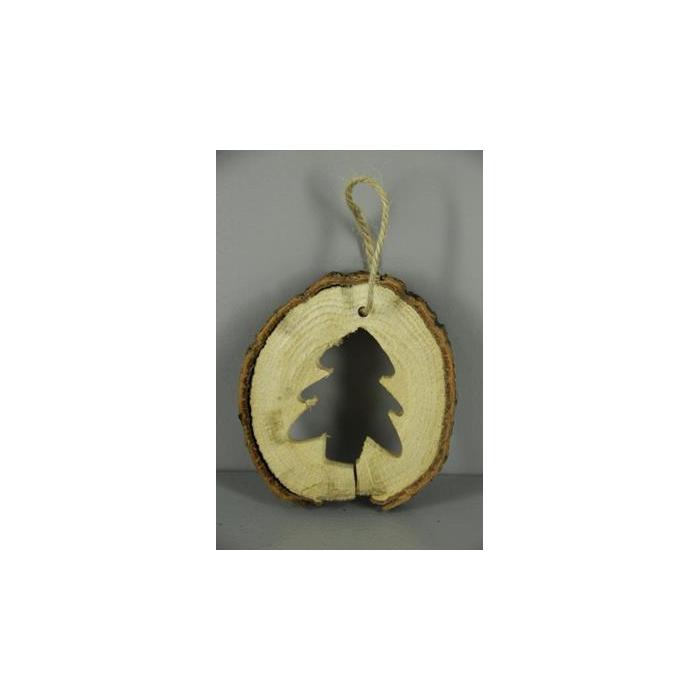 <h4>Slice Wood Hanger Open Tree</h4>