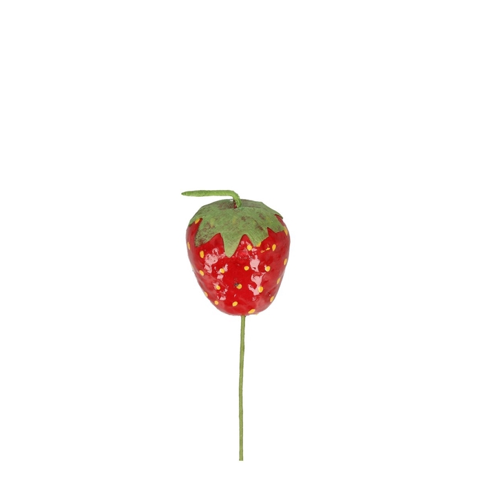 <h4>Decoration Strawberry/wire 4cm</h4>