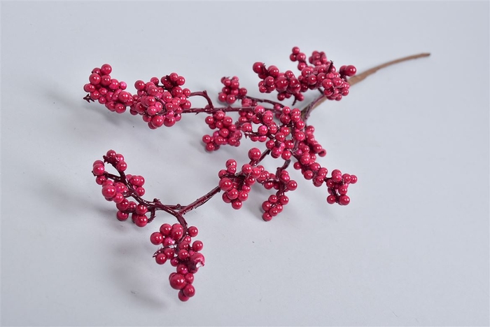 <h4>Dry Plume Branch Bordeaux 80cm</h4>