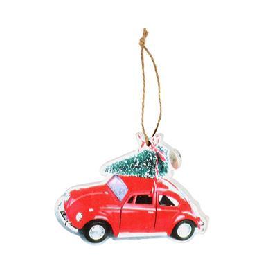 <h4>Hanger Winter auto hout 6x7,5cm+12cm stok</h4>