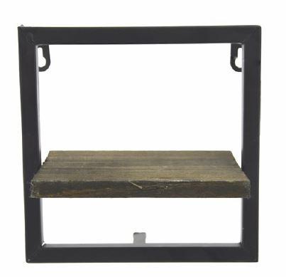 <h4>DF883822900 - Wall shelf brown/black 18cm</h4>