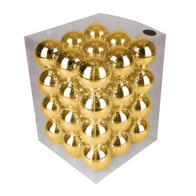 <h4>Boules de Noël 57mm brillantes or 36 pcs.</h4>