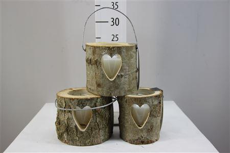 <h4>Lantern Heart Glass Candle H12 D12</h4>