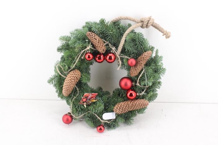 <h4>arr.. Kerst MB - Nobelis krans rood</h4>