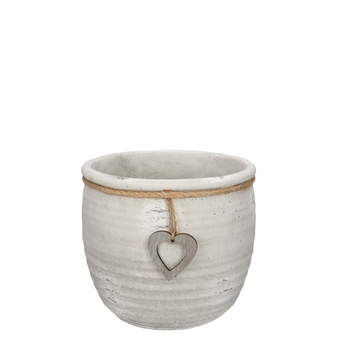 <h4>Ceramics Atzara pot heart d18*15.5cm</h4>