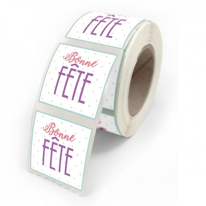 <h4>Labels Sticker 40mm x500 Bonne fete</h4>