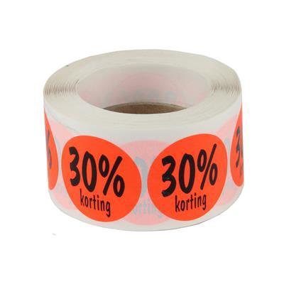 <h4>stickers ø 35mm  30% korting  ORANJE - rol 500st</h4>