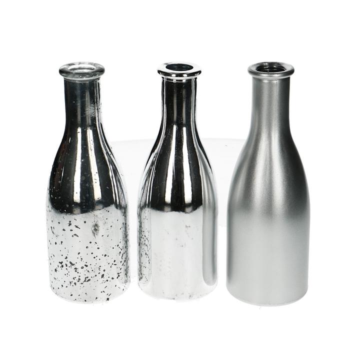 <h4>Glass colour Bottle round d6*18cm ass.</h4>