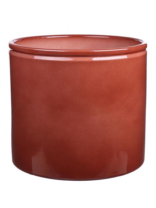 <h4>DF883750300 - Pot Lucca1 d23.3xh21.5cm brown glazed</h4>