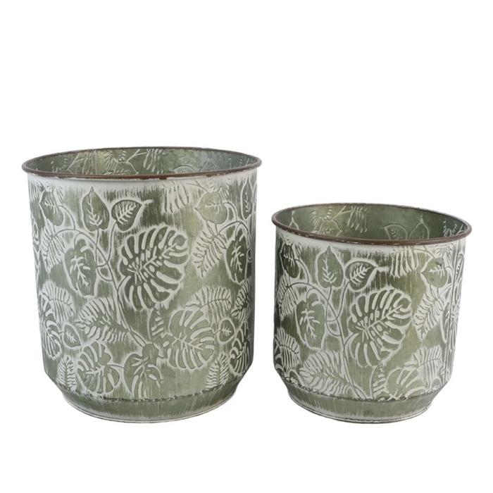 <h4>Homedeco Pot Flower d32.5*33.5cm S/2</h4>