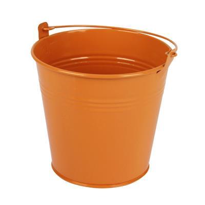 <h4>Bucket Sevilla zinc Ø13xH13cm - ES12 orange gloss</h4>