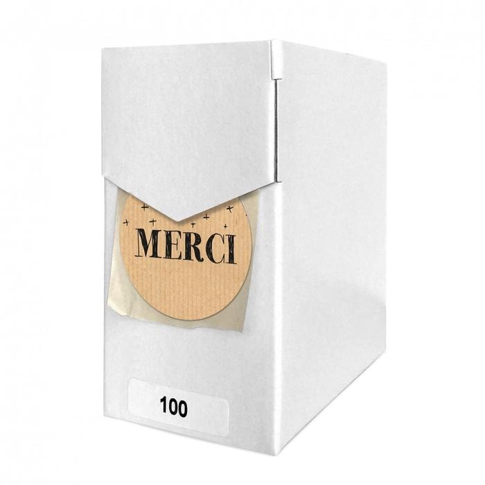 <h4>Labels Sticker 40mm x100 Merci</h4>