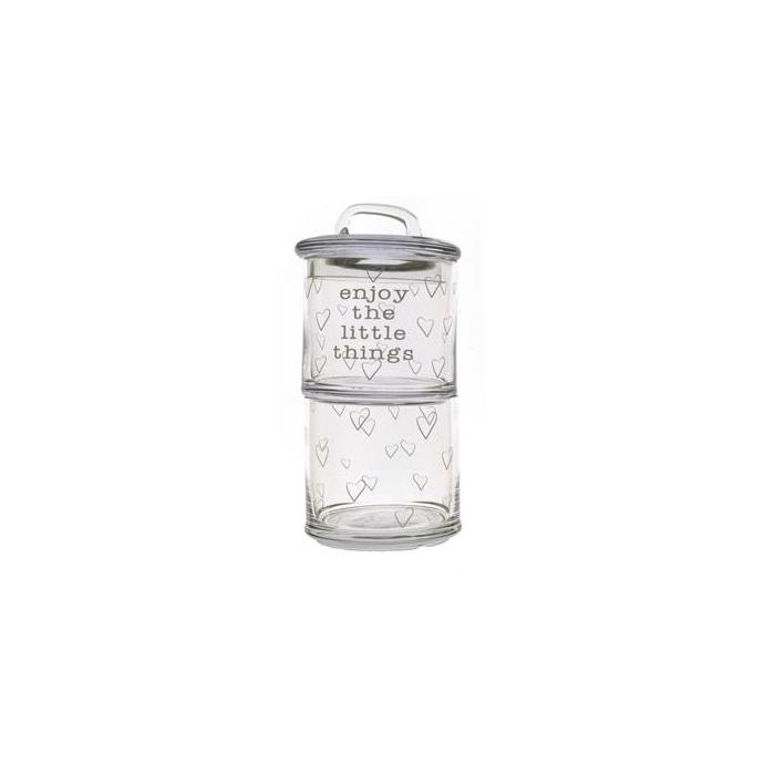 <h4>Glass Storage Enjoy(2)ø10x22cm</h4>