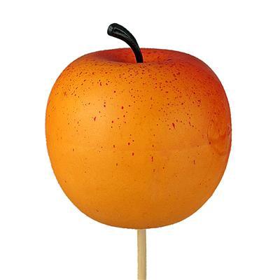 <h4>Pique Pomme ø6cm bâton 50cm orange/jaune</h4>