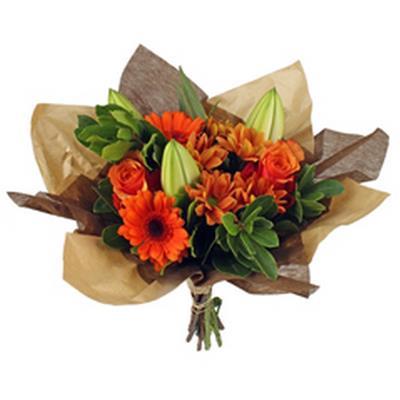 <h4>Bouquet cover Square kraft+non-woven Ø32cm brun</h4>