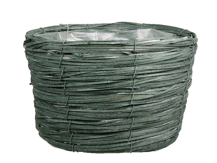 <h4>DF470604100 - Basket Paia d27xh16 green</h4>