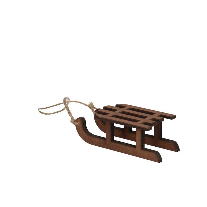 <h4>Kerst Hanger slee hout 9cm x4</h4>
