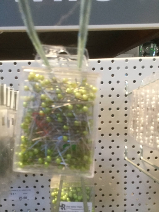 <h4>Dekonål med grønt hoved, 4mm</h4>