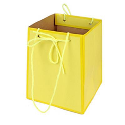 <h4>Bag Easy carton 12/12x15/15xH18cm yellow</h4>