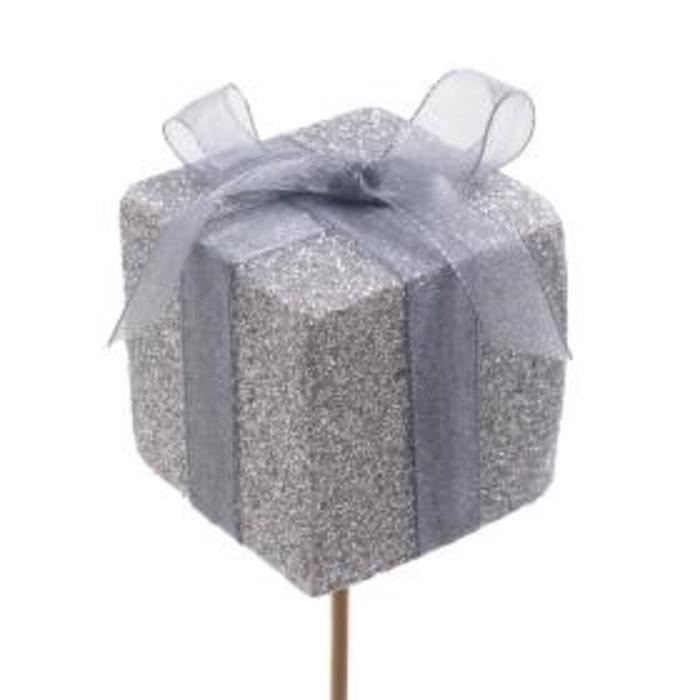 <h4>Kerst bijsteker 50cm Cadeau glitter 5cm</h4>