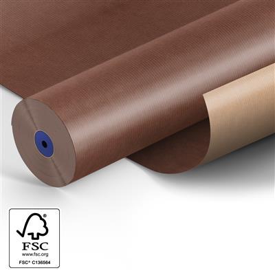 <h4>Papier 60cm kraft 50gr marron/ Marron fond 400m.</h4>