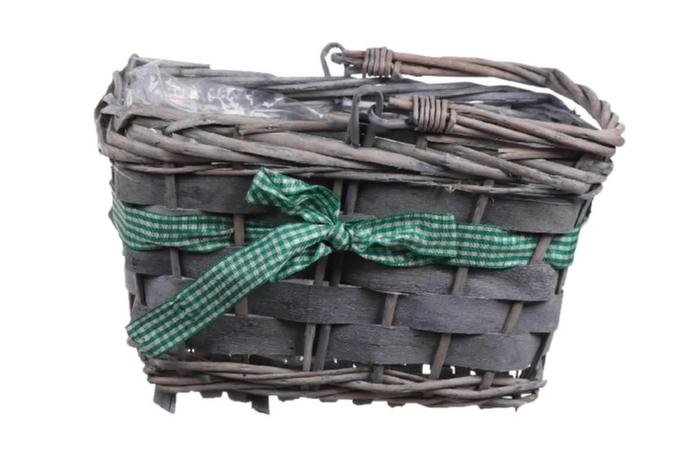 <h4>DF660120400 - Basket Rentz 22x15x13 l.green ribbon</h4>