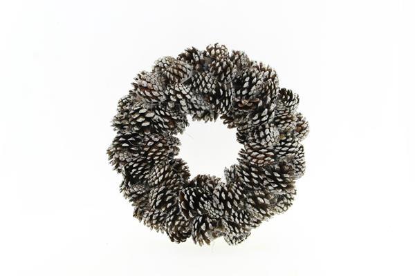 <h4>Wreath Pinecone 38cm White Tip</h4>
