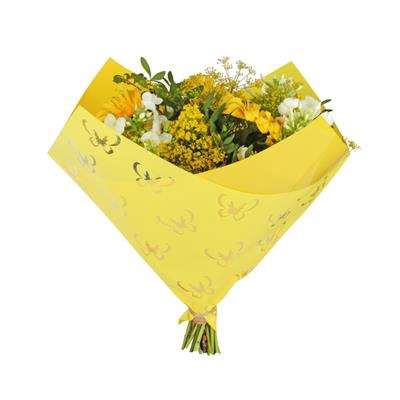 <h4>Housse 35x35cm OPP50 Obl. Clear Butterfly jaune</h4>