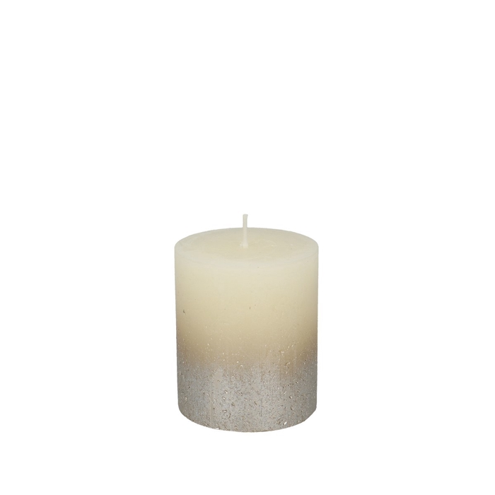 <h4>Candle Cylinder Rustic metallic d07*08cm</h4>
