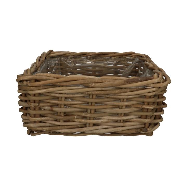 <h4>Baskets Rattan tray square d33*14cm</h4>