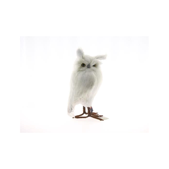 <h4>Fig. Feather Owl 33cm White</h4>