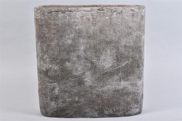 <h4>Iron Stone Grijs Ovaal 37x16x37cm</h4>