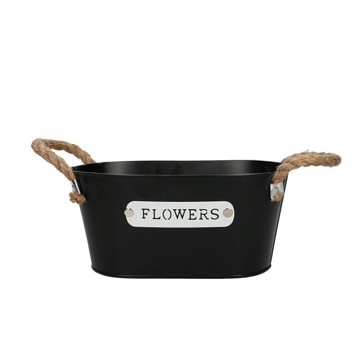 <h4>Zinc Flowers tray oval d22*13*10cm</h4>