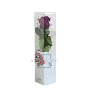 Roos op steel mini 27,5cm Lilac