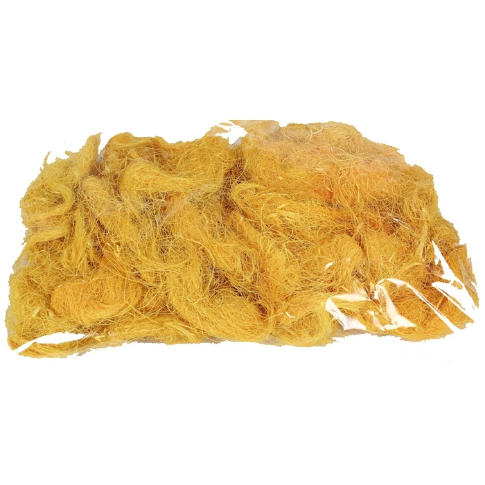 <h4>Coco fibre 250gram in poly yellow</h4>