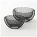 <h4>Bowl Seoul, Decoration, H 13 cm, D 24 cm, Eisen iron black</h4>