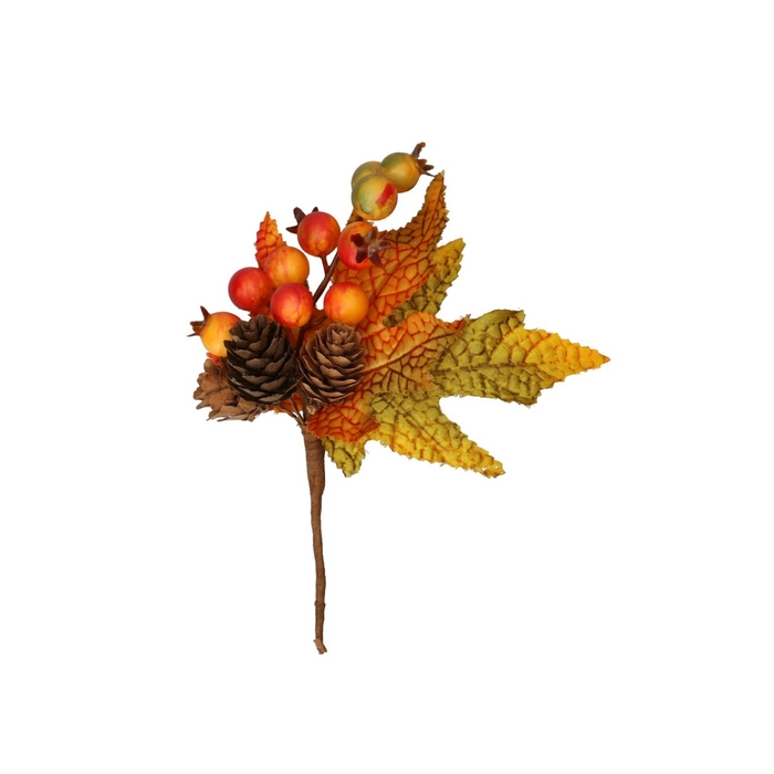 <h4>Autumn Leaf bunch/wire d12cm x4</h4>