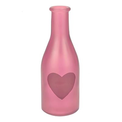 <h4>Vaas Moroni glas D6,5xH18cm Love roze</h4>