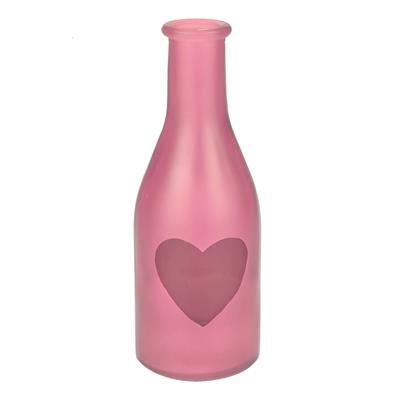 <h4>Vase Moroni verre  D6,5xH18cm LOve rose</h4>
