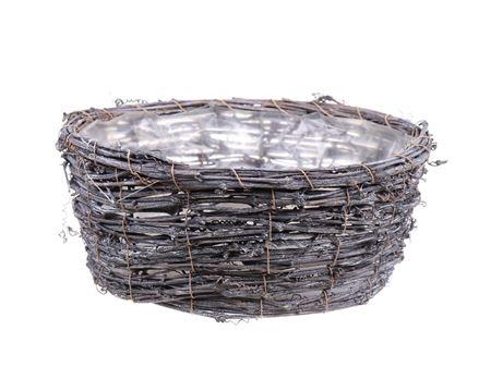 <h4>Basket Timbo d26xh10.5 grey</h4>