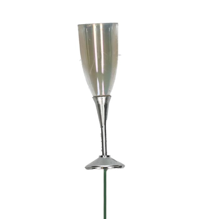 <h4>Christmas Champagne glass/stick 27cm x12</h4>