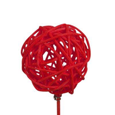 <h4>Bijsteker Bruce ball 5cm+50cm stok rood</h4>