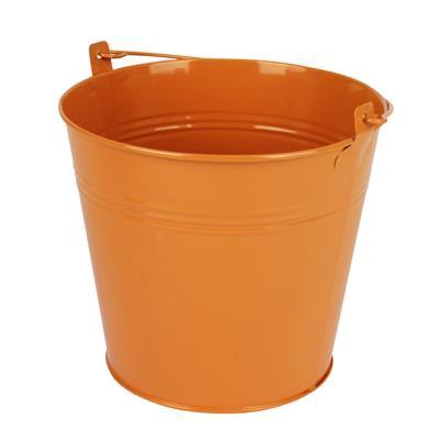 <h4>Bucket Sevilla zinc Ø17,8xH15,8cm ES17 orange</h4>