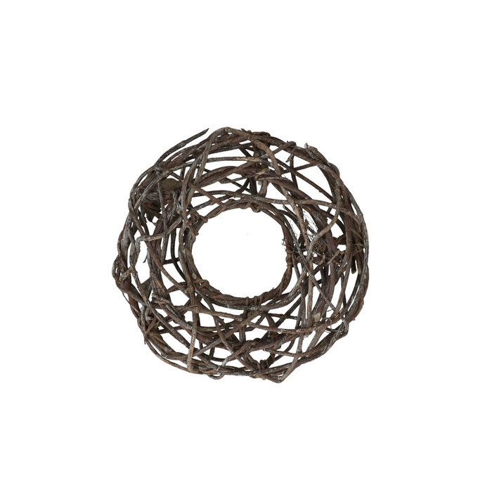 <h4>Wreath d24cm Woven open Frosted</h4>