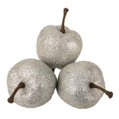 <h4>Scintillement pommes 3x40mm sur tige 50cm argent</h4>