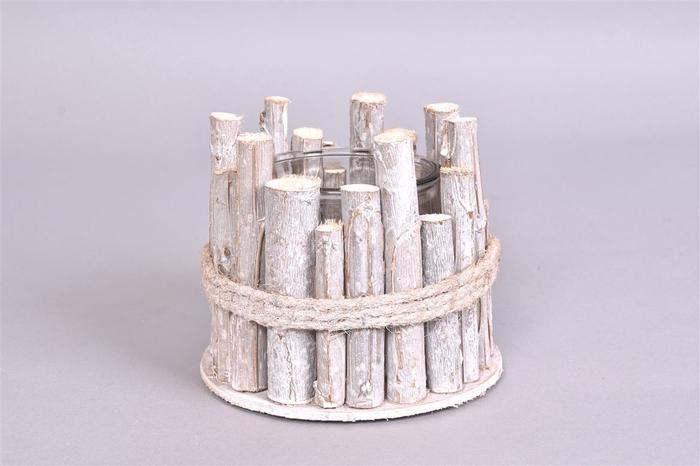 <h4>Driftwood Berkentak Glaspot 15x12cm</h4>