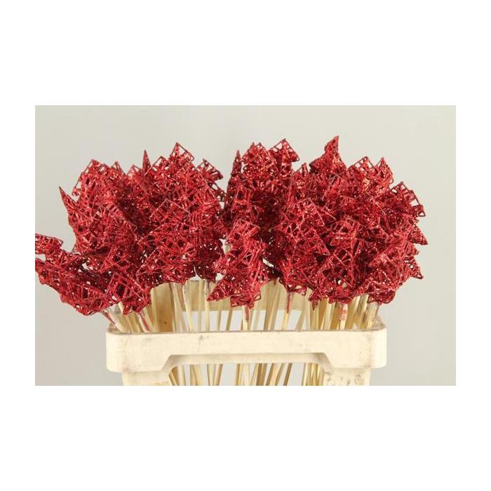 <h4>Stick Tree Wire 10cm Red+glt</h4>