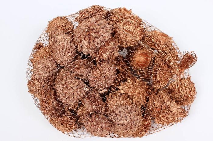 <h4>Acorn Cones 500gr in net copper</h4>