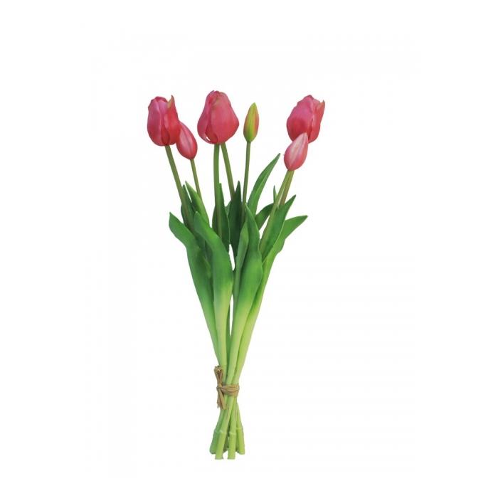 <h4>SILK FLOWERS - TULIP BUNDLE SALLY BEAUTY 47CM 7PCS</h4>